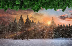 Sammansatt bild av att falla för snö vektor illustrationer