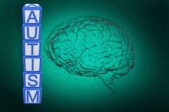 Sammansatt bild av autismbyggnadskvarter vektor illustrationer
