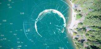 Sammansatt bild av bilden av jord med olika tider Arkivfoton