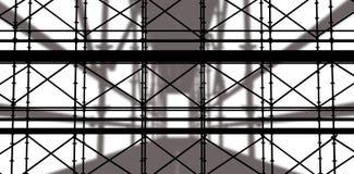 Sammansatt bild av bilden 3d av konstruktionsmaterialet till byggnadsställning Arkivbild