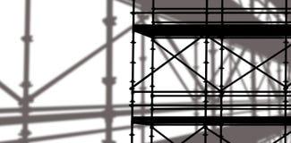 Sammansatt bild av bilden 3d av konstruktionsmaterialet till byggnadsställning Fotografering för Bildbyråer
