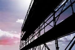 Sammansatt bild av bilden 3d av konstruktionsmaterialet till byggnadsställning Arkivfoton