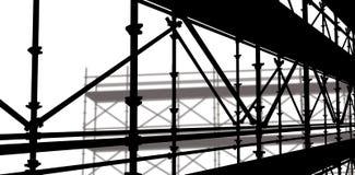 Sammansatt bild av bilden 3d av konstruktionsmaterialet till byggnadsställning Royaltyfri Foto