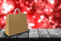 Sammansatt bild av den beigea handväskan mot vit bakgrund 3d Royaltyfria Bilder