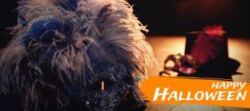 Sammansatt bild av den digitala bilden av lycklig halloween text Royaltyfria Foton