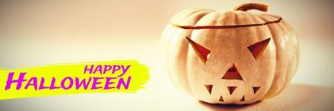 Sammansatt bild av den digitala bilden av lycklig halloween text Fotografering för Bildbyråer