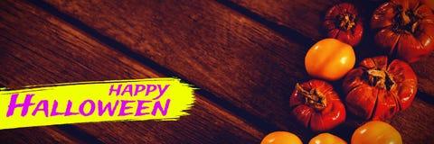 Sammansatt bild av den digitala bilden av lycklig halloween text Royaltyfri Foto
