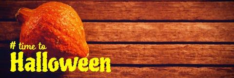 Sammansatt bild av den digitala bilden av tid till halloween text Royaltyfria Bilder