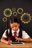 Sammansatt bild av den digitala sammansatta bilden av kugghjul Royaltyfri Bild
