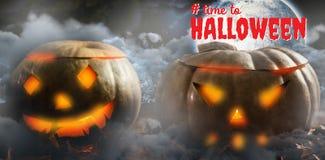 Sammansatt bild av den digitala sammansatta bilden av tid till halloween text Royaltyfri Fotografi