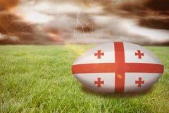 Sammansatt bild av den georgia rugbybollen Royaltyfri Foto