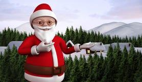 Sammansatt bild av den gulliga tecknade filmen Santa Claus stock illustrationer