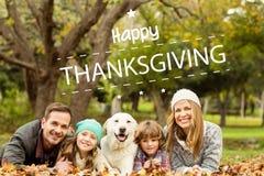 Sammansatt bild av den lyckliga tacksägelsen Arkivbild