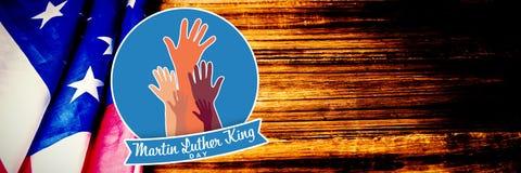 Sammansatt bild av den Martin Luther King dagen med händer arkivbild