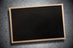 Sammansatt bild av den svart tavlan med träramen stock illustrationer