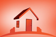 Sammansatt bild av det orange huset Arkivfoto