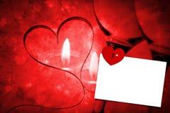 Sammansatt bild av förälskelsehjärtalåset Arkivbilder