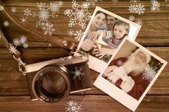 Sammansatt bild av familjjulståenden Fotografering för Bildbyråer