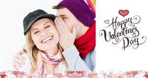 Sammansatt bild av gulliga valentinpar Royaltyfria Foton