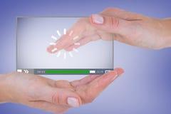 Sammansatt bild av händer som visar 3d Arkivfoton