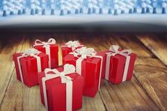 Sammansatt bild av julgåvor Fotografering för Bildbyråer