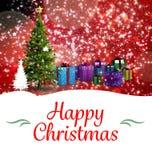 Sammansatt bild av julhälsningkortet Arkivbild