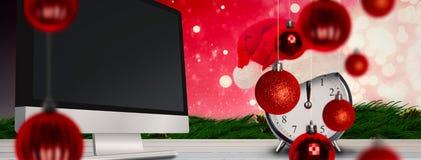 Sammansatt bild av julklockan Arkivfoto