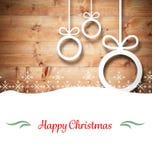 Sammansatt bild av julkortet Royaltyfri Bild