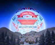 Sammansatt bild av julmeddelandet Royaltyfri Bild