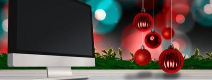 Sammansatt bild av julstruntsaker Royaltyfri Foto