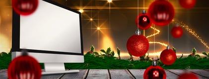 Sammansatt bild av julstruntsaker Fotografering för Bildbyråer