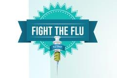 Sammansatt bild av kampen influensan stock illustrationer