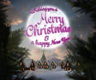 Sammansatt bild av meddelandet för glad jul Arkivfoton