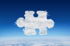 Sammansatt bild av molnfigursågstycket Arkivfoton