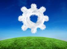 Sammansatt bild av molnkuggen Fotografering för Bildbyråer