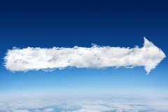 Sammansatt bild av molnpilen Royaltyfri Foto