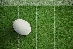 Sammansatt bild av närbilden av rugbybollen Arkivfoto