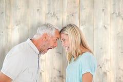 Sammansatt bild av olyckliga par som har ett argument Royaltyfria Bilder