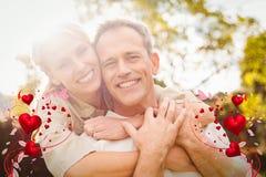 Sammansatt bild av par- och valentinhjärtor 3d Royaltyfri Foto