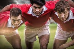 Sammansatt bild av rugbystadion Royaltyfria Foton