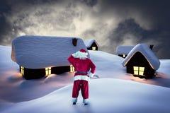 Sammansatt bild av Santa Claus Royaltyfri Foto