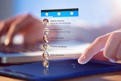 Sammansatt bild av smartphoneapp-menyn Royaltyfri Foto