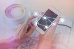 Sammansatt bild av smartphoneappssymboler 3d Royaltyfri Fotografi