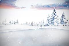 Sammansatt bild av snö Royaltyfri Fotografi