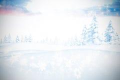 Sammansatt bild av snöflingor Fotografering för Bildbyråer