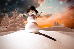 Sammansatt bild av snömannen Royaltyfria Foton