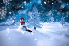 Sammansatt bild av snömannen Arkivbilder