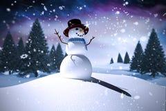 Sammansatt bild av snömannen Fotografering för Bildbyråer