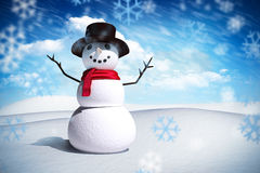 Sammansatt bild av snömannen Arkivbild