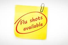 Sammansatt bild av tillgängliga influensaskott stock illustrationer